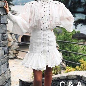 Beige dress long sleeve size S M L